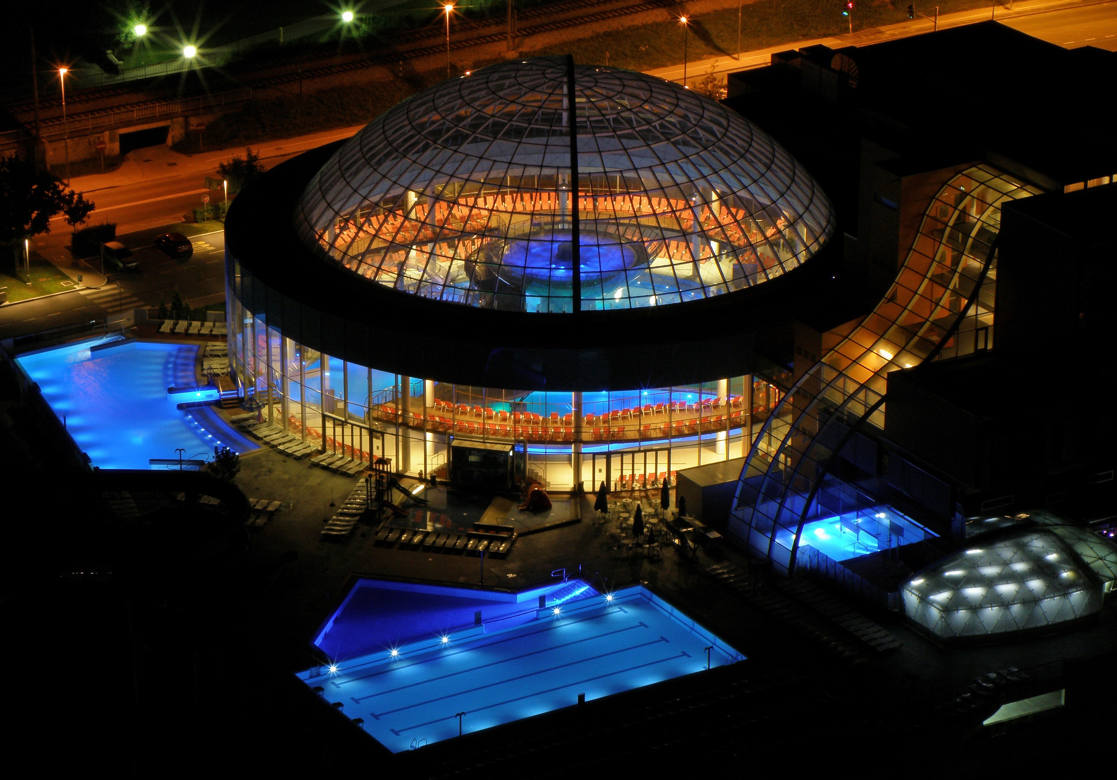 Aquapark - at night